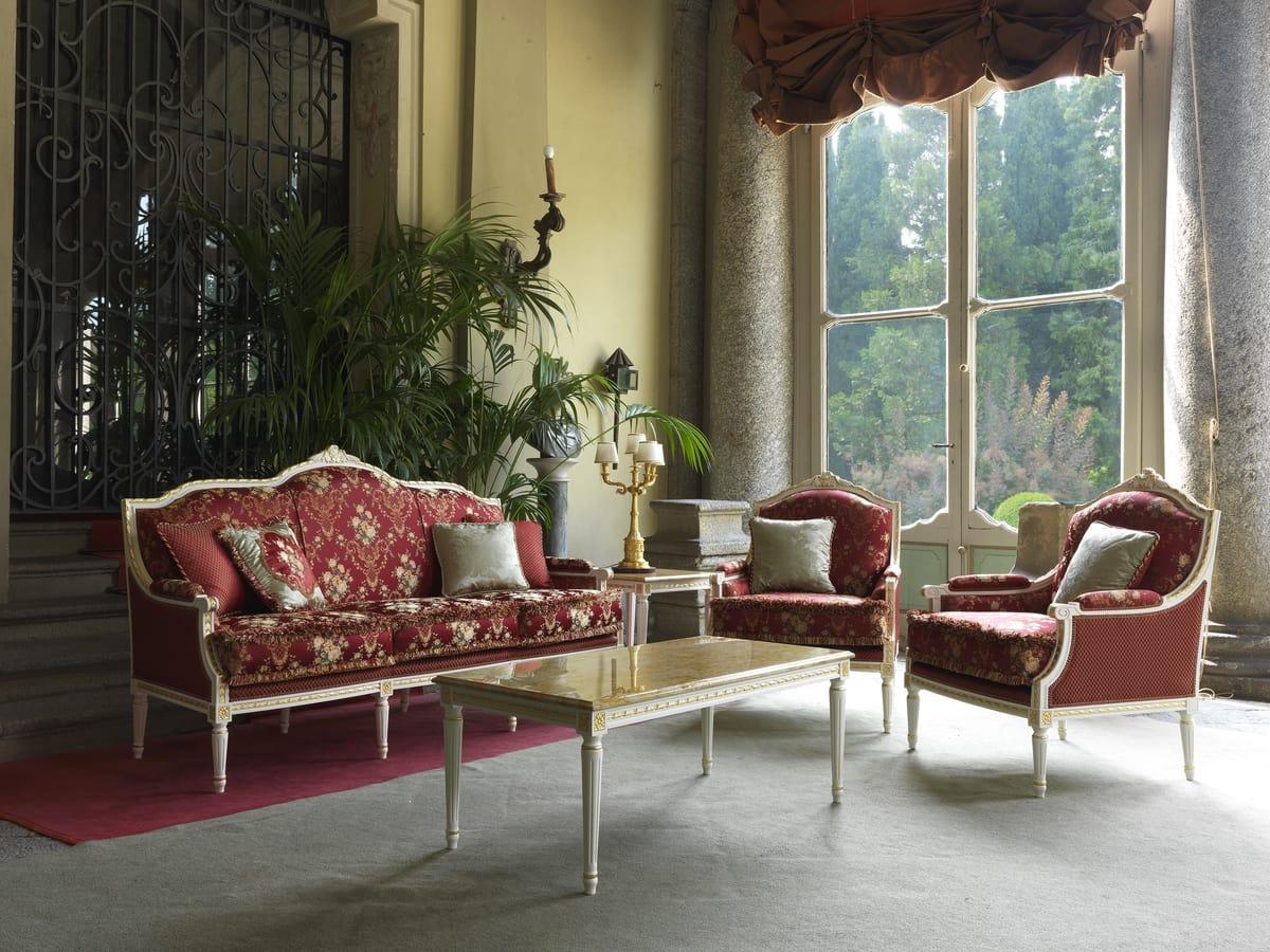 Alice armchair, Armchair with Louis XVI style