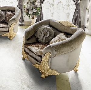 Amina armchair, Classic rounded armchair