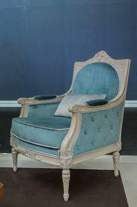Arles armchair, Classic velvet armchair