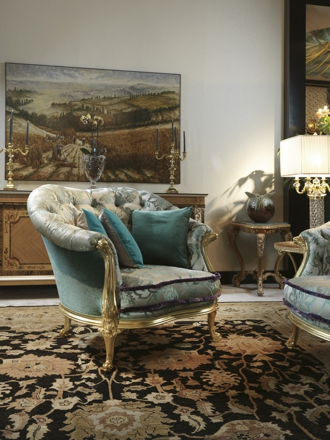 Armchair 4962, Armchair covered with classic fabric
