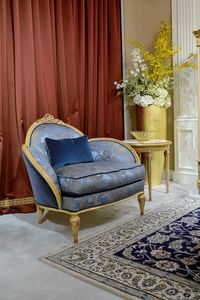 Armchair 4972 Louis XVI style, Luxury armchair, with antique decap� finish