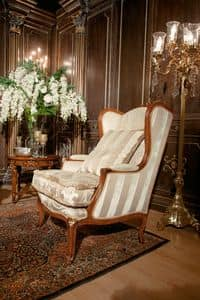 Art. 1050, Luxury bergere covered in velvet and silk, handmade