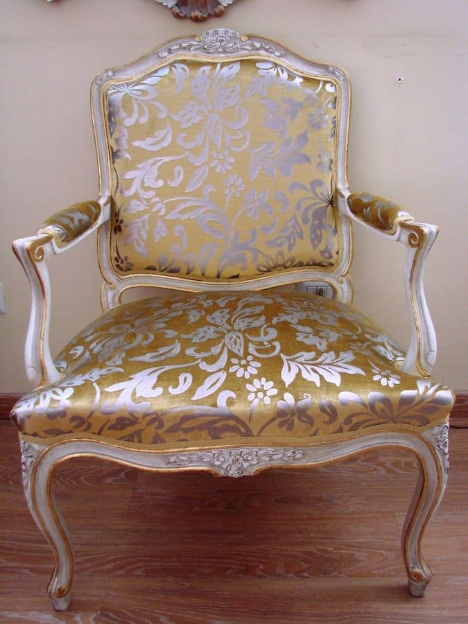 Art. 112, Luxury classic chair for home, Louis XV Style