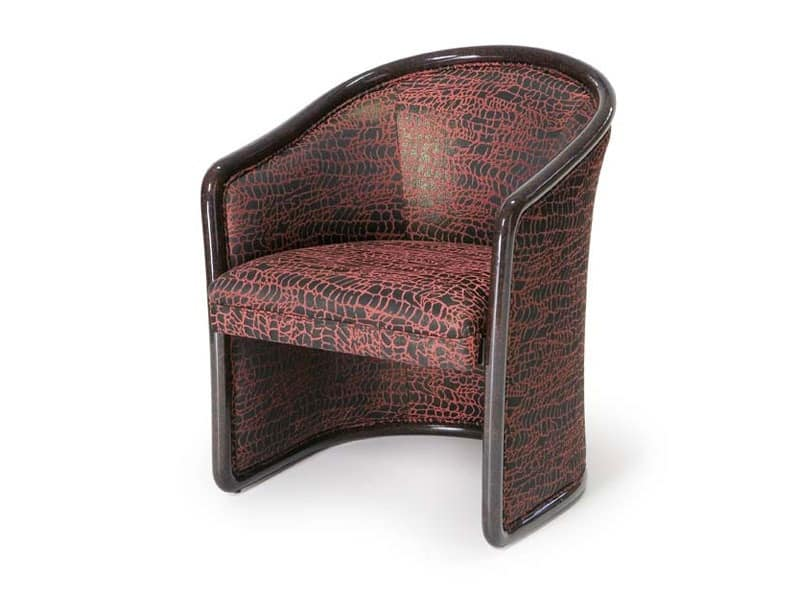 Art.168 armchair, Fireproof chair for waiting areas, classic style