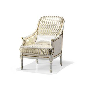 1742/A, Luxury armchairs, white lacquered finish