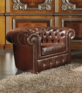 ART. 2758, Chester model leather armchair