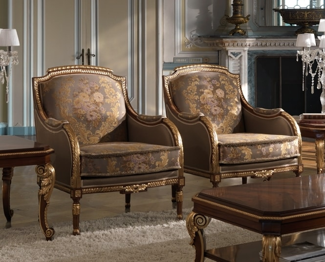 ART. 2868, Classic armchairs with gold details