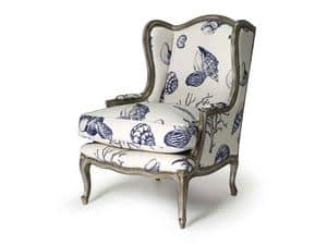 Art.320 armchair, Armchair in beech wood, Louis XV Style