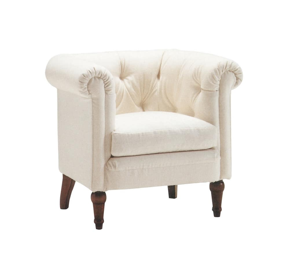 Artemisia, Armchair with completely removable quilted upholstery