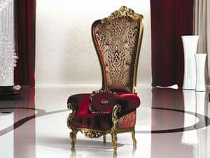 B/110/2 The Throne, Armchair in solid wood, classic style, various finishes