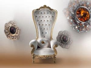 B/110/6 The Throne, Wooden armchair, for luxurious residence