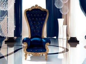 B/110/7 The Throne, Padded Armchair, customizable, for Ville