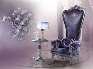B/110/8 The Throne, Armchair in classic style, carved wood