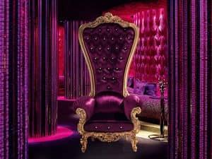 B/110/9 The Throne, Classic luxury armchair in handmade wood