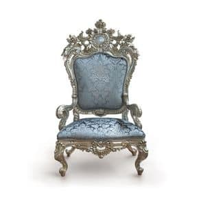 B/94/4 The Throne, Armchair with majestic proportions in hardwood