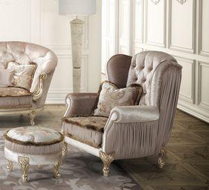 Berge, Classic armchair, with capitonné backrest