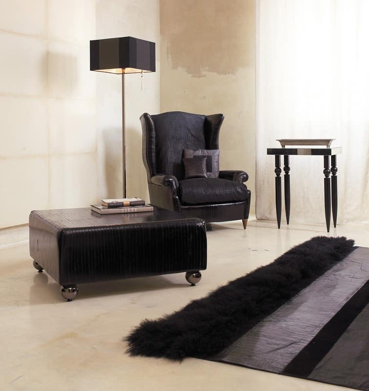 Bergere, Luxurious armchair, hand-worked, for hotel suites