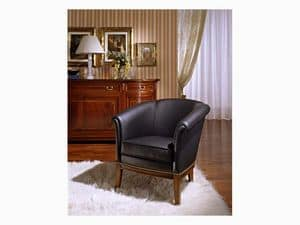 Betty, Armchair in poplar wood, for classic furnishing