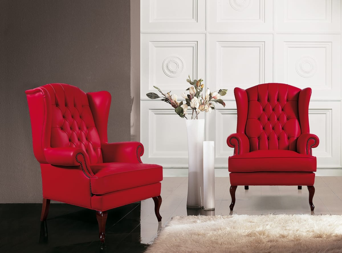 Big Ben, Classic armchair with capitonnè high backrest