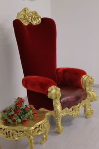 Boga throne, Luxurious throne, in carved beechwood