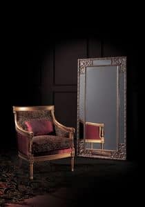 Conversation 92, Armchair with upholstered seat and back, classic style