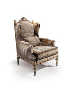 Conversation 96, Armchair with upholstered seat and back