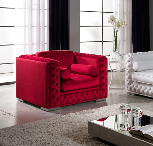 ELITE armchair, Tufted armchair