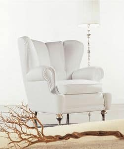 Esedra, Covered armchair, classic contemporary style