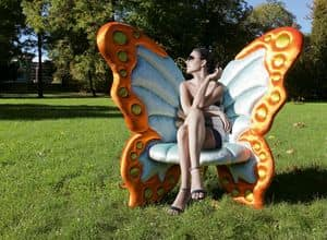 Farfallyna, Elegant armchair with an original shape of butterfly