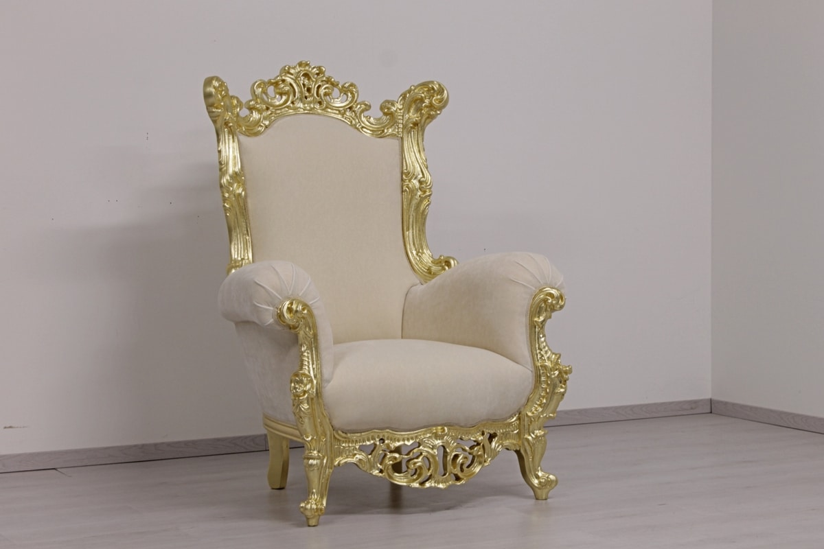 Finlandia throne, Throne in New Baroque style, in hand-carved wood