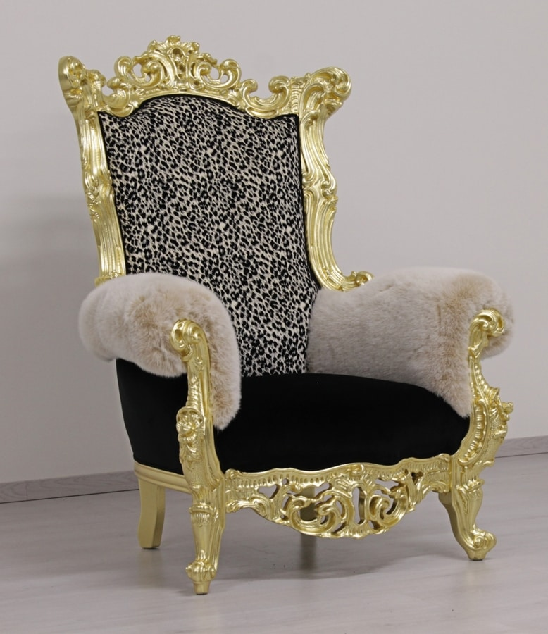 Finlandia throne animalier, Throne in Baroque style