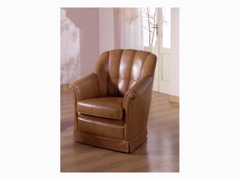Garbo, Upholstered armchair for naval furnishing