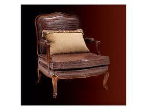 Gardenia armchair 806, Armchair with leather upholstery