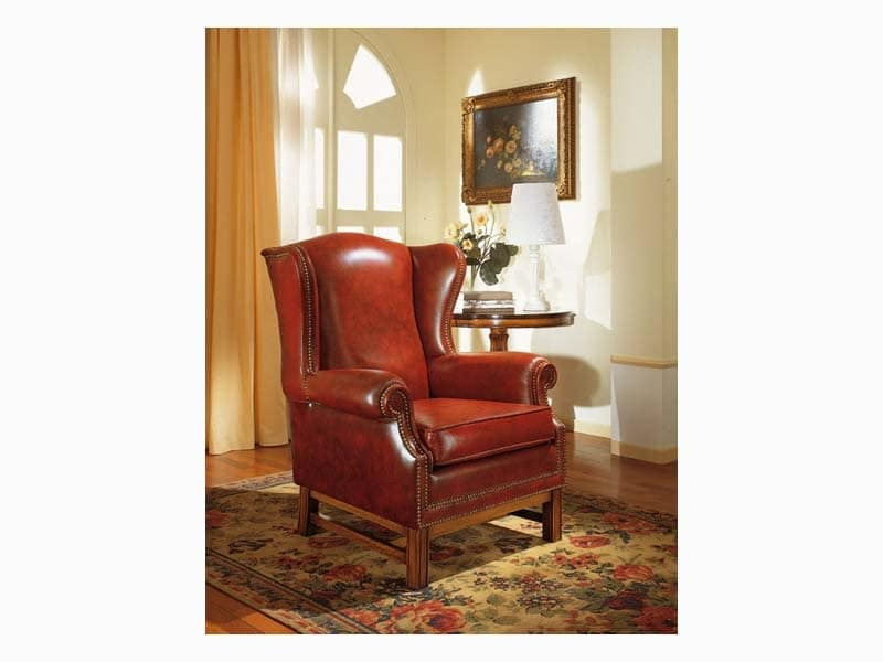 Harward, Elegant bergère armchair, for naval furnishing
