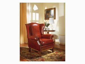 Harward, Elegant berg�re armchair, for naval furnishing