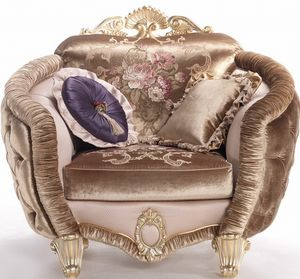 Isabelle armchair, Enveloping armchair, with luxurious details