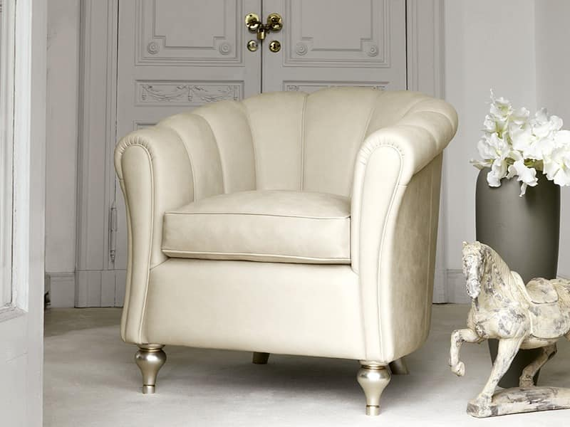 Letizia Armchair, Hand-worked armchair for Hotel hall
