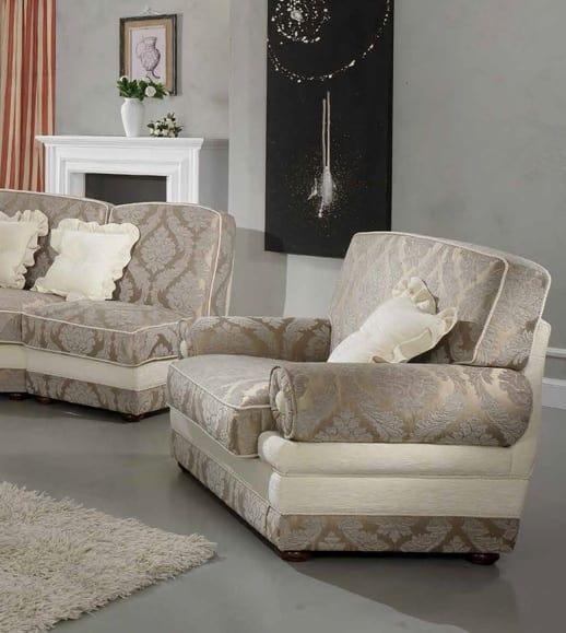 LIENZ armchair, Classic luxury armchair