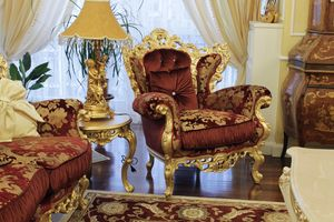 Maria armchair, Classic armchair with medallion back