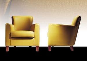 Marriot, Armchair with poplar, feather pillows