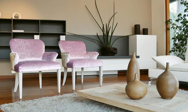 Myna, Rich wood armchair, for Luxury Hotels