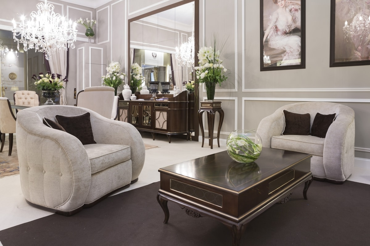 New York armchair, Upholstered fabric armchair