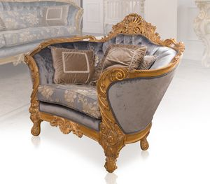 Nobile armchair, Luxurious hand-carved armchair