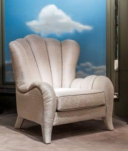 PO55, Classic armchair with fabric covering
