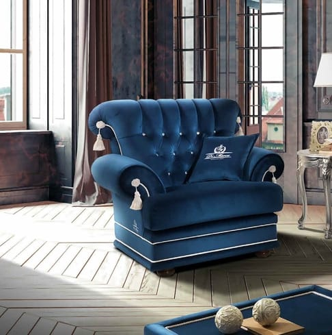 PRINCIPE capitonné armchair, Armchair with tufted backrest