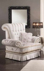QUEEN armchair, Classic luxury armchair