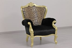 Re Sole animalier, Leopard and zebra-shaped armchairs made to measure