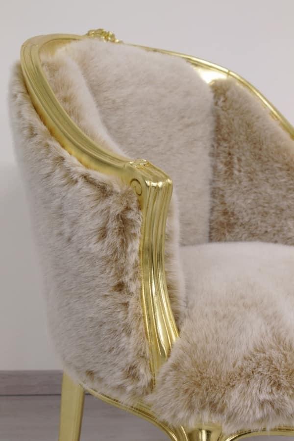 Rosa fabric, Armchair produced by skilled Italian artisans