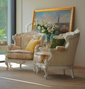 Serena armchair, Luxurious hand-crafted armchair