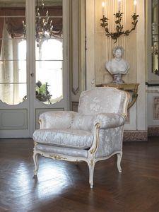 Silvia armchair, Louis XV style armchair